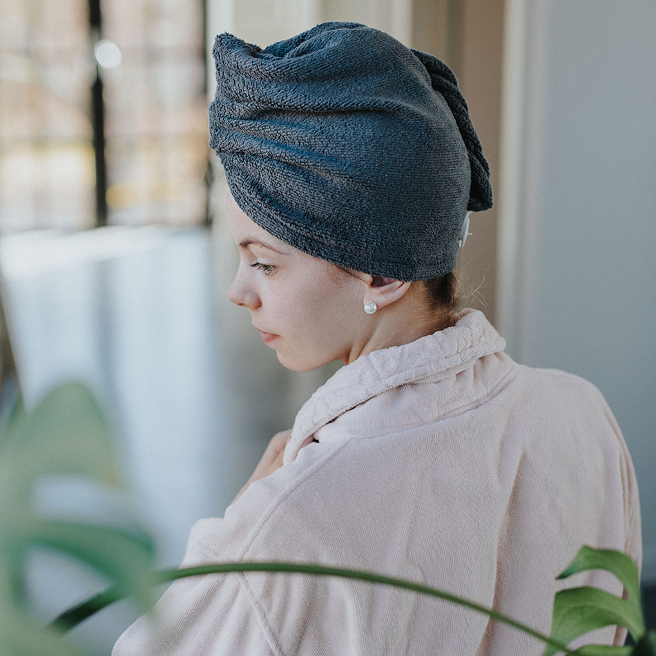 Frida turbans and hairbands in microfibre