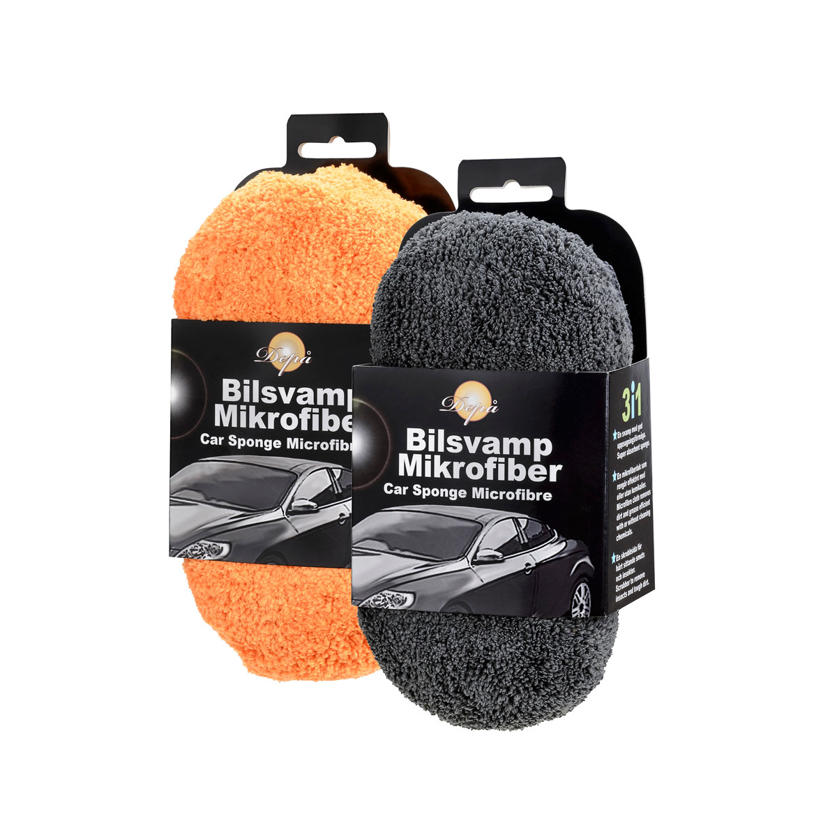 Car wash sponge microfibre