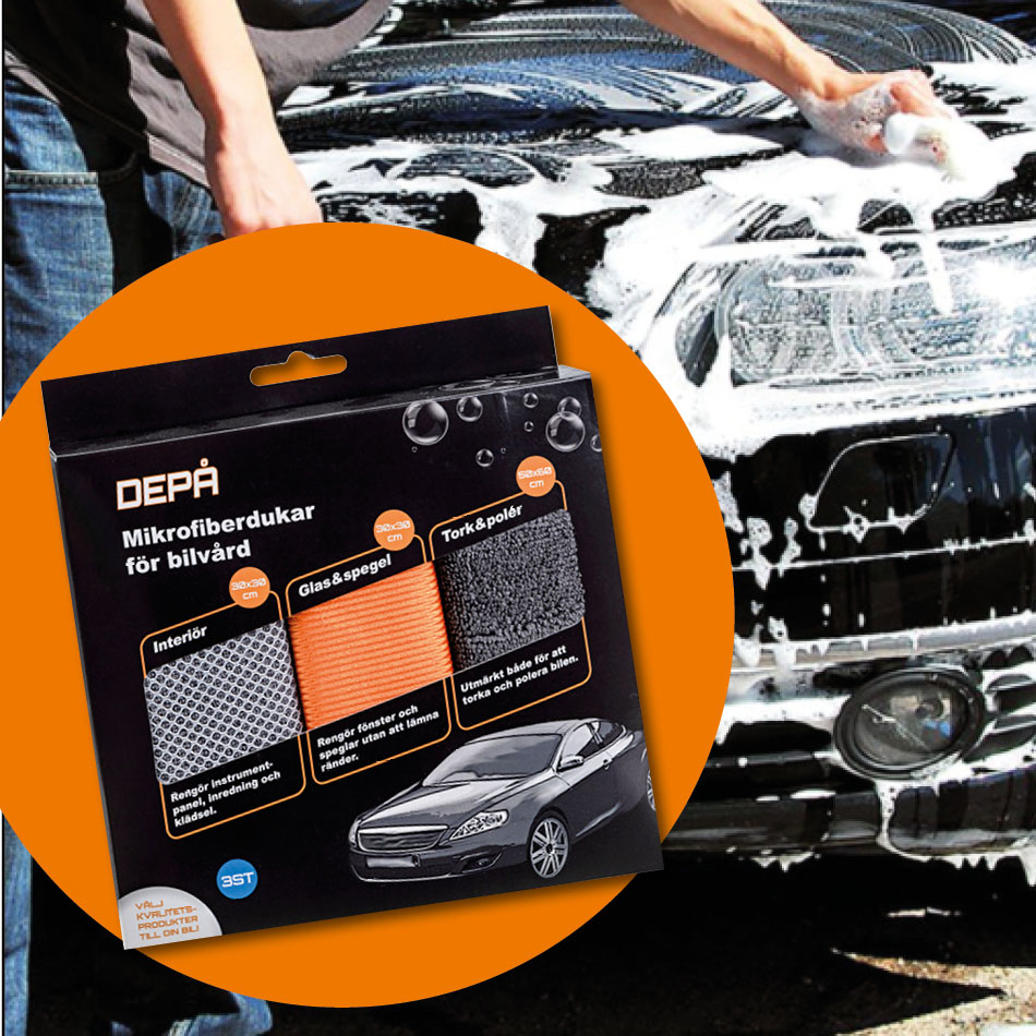 Depå Bildukar, a complete range of products for drying and cleaning cars