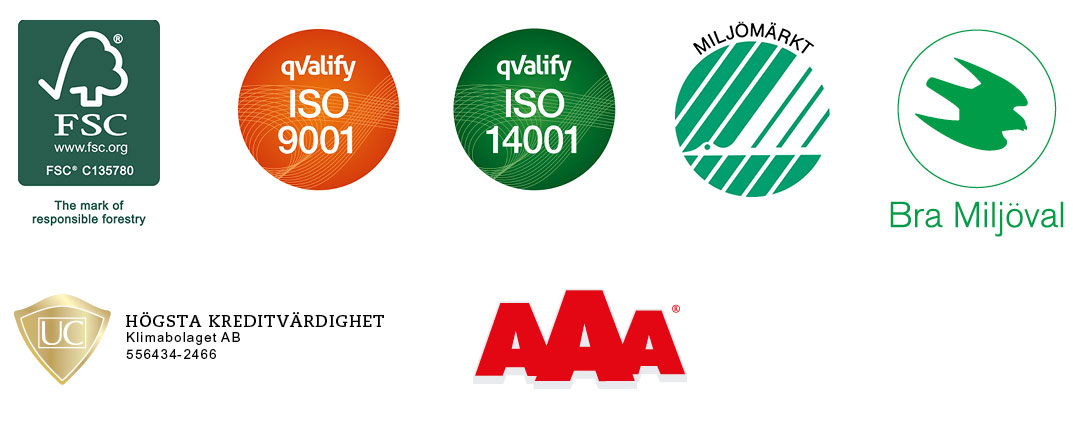 Swan marking of microfibre products, Certification in accordance with ISO 14001 and ISO 9001